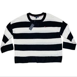 TOMMY HILFIGER RUGBY STRIPE CHENILLE SWEATER